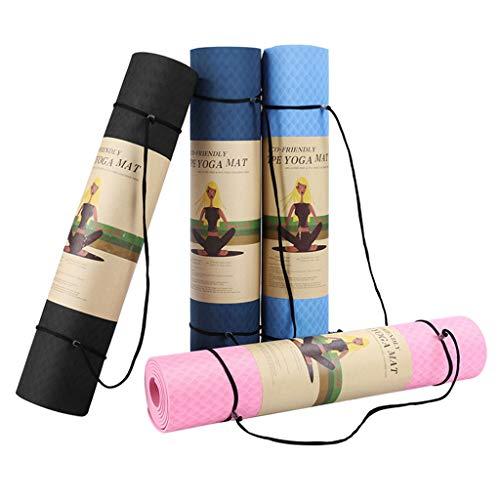 ZEZKT Color sólido multicolor yoga mat esterilla yoga antideslizante barata Hacer flexiones esterilla yoga gruesa Combínalo con pantalones y mallas de yoga(183 x 61 cm) (D)