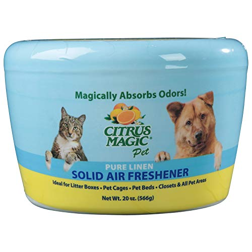 Citrus Magic Pet Olor Absorbente Ambientador de Aire Sólido Pura Lino, 20 oz