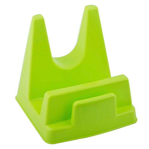 sourcingmap Support à Planche à découper Plastique cuisine multi-usages pour casserole couvercle vert