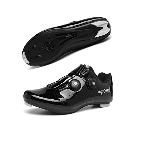 Cycling Shoes Mens Dial Road Bike SPD/SPD-SL Indoor Cycling Exercise Biking Shoes Riding Sneaker