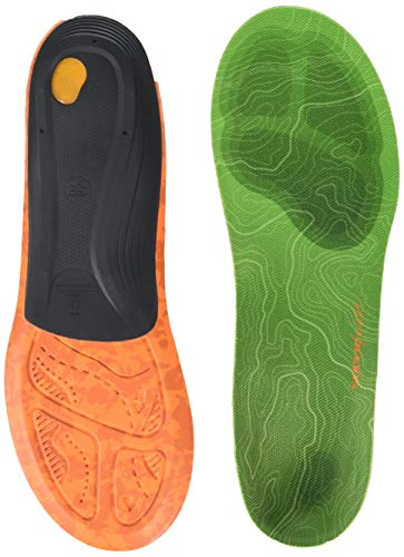 Superfeet Trailblazer Comfort Insoles for Carbon Fiber Orthotic Support and Cushion in Hiking Boots and Trail Shoes, Large/E: 10.5-12 US Womens / 9.5-11 US Mens