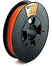 BASICFIL PET-G verschillende kleuren 1,75 mm 500 gr, 3D-printerfilament voor FDM/FFF, 500 gr, transparant., 1