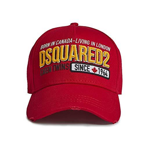 DSQUARED2 BCM0199 Born in Canada - Living in London Baseballmütze, Rot Gr. Einheitsgröße, rot