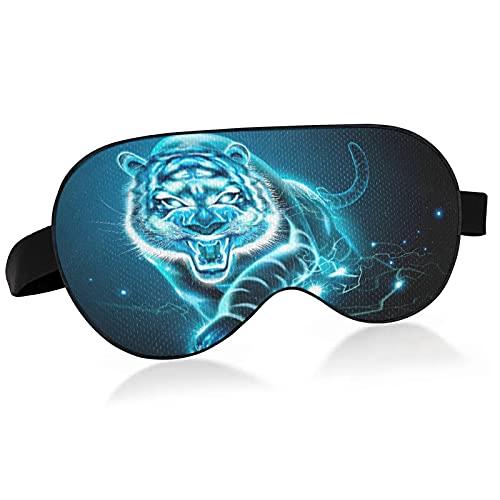 Schlafmaske Leuchtende Tier Tiger Augenmaske zum Schlafen Leuchtende Tier Tiger Schlafmaske Augenmaske für Schlaf A30