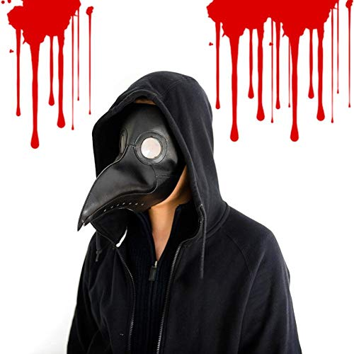QUUY máscara de pájaro de Plaga para médico, de Punta Larga, para Cosplay, Disfraz de Steampunk, para Halloween, Divertido, para Fiestas de Navidad, Juegos de rol, máscara de pájaro de Piel Retro