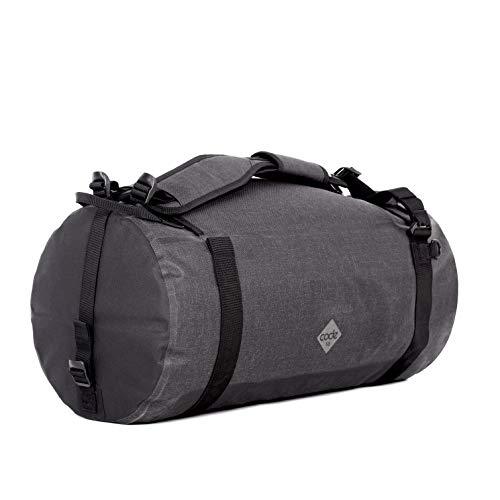 Code 10 Duffel Sporttasche / Weekender Wasserdicht Damen & Herren Schwarz - aus wasserfester Nylongewebe - für den Alltag, Flexibel und mit Diebstahlsicherung