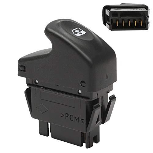 SUJIE Interruptor de la Ventana Botón de Interruptor de Espejo de Ventana eléctrica Compatible con Renault/Kangoo/Megane/Clio 7700838100 58x20.6x47mm Reemplazo