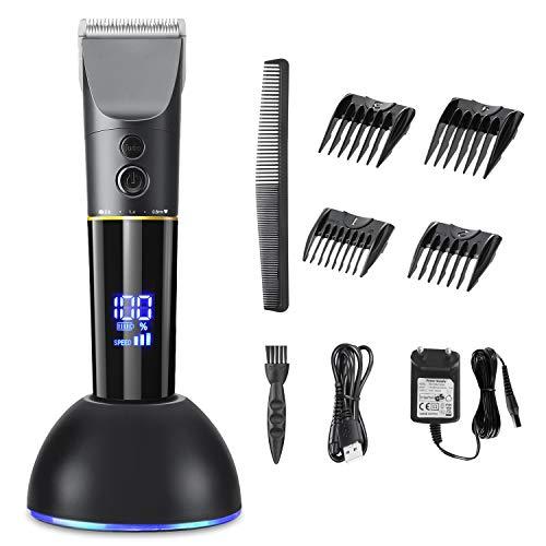 TOGETOP Cortapelos Hombre Profesional, Recortadora de Cabello para Hombres, Recortadora de barba electrónica LCD, con Batería Recargable, Maquina Cortar Pelo