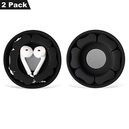 Earbud Case Holder Pack [2 Pack], MAIRUI Earphone Case Wrap Earbuds Nest Tangle-Free Silicone Magnetic Organzier
