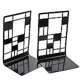 Lizefang Sujetalibros para estantes Negro Extremos de Libros en Forma de árbol 3 Patrones para estantes de Libros Extremos de Libros Independientes Estante de Almacenamiento Libros Excellent