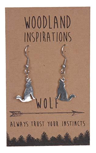 SHAG WEAR Woodland Inspirations Pewter Earrings (Wolf)