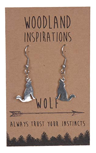 SHAG WEAR Woodland Inspirations Pewter Earrings (Wolf)
