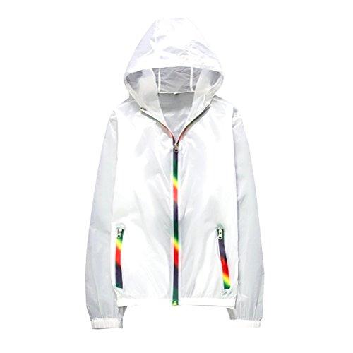 Tinksky Spiaggia abiti Anti-UV cappotto sole protezione Abbigliamento Outdoor, regalo festa della mamma o regalo per donna - taglia M (bianco)
