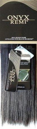 Black Diamond ONYX REMI 100% Human Hair YAKY 18inch 1B