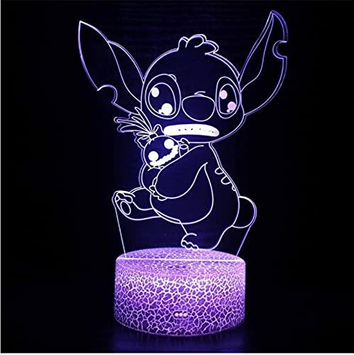 Lámpara De Acrílico Con Tema De Perro Azul, Lámpara Led 3D, Decoración De Habitación Para El Hogar, Luz, Regalo Para Niños, Lámpara De Humor, Regalo De Navidad