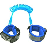 Toddler Safety Leash for Kids & Child | Baby Wrist Leash for Walking - Upgraded Version with Lock-Blue