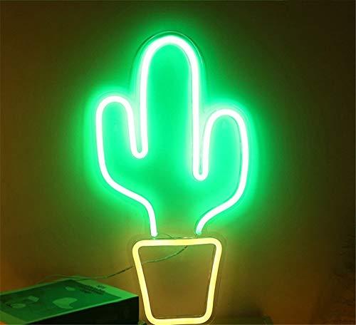 Ulalaza Neonlicht Zeichen LED Kaktus Nachtlichter USB-betrieben dekorative Festzelt Zeichen Bar Pub Store Club Garage Home Party Dekor