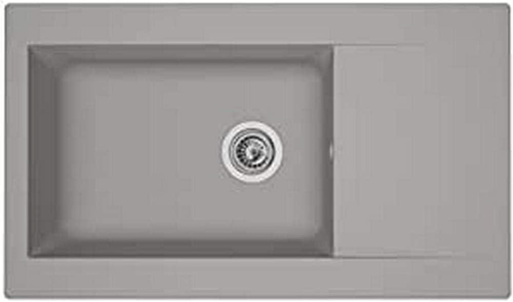 respekta DENVER86X50G - Fregadero (86 cm), color gris