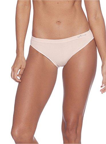 Boody Classic Bikini Panty Size L - Organic Bamboo Underwear – Comfortable Breathable EcoWear, Nude