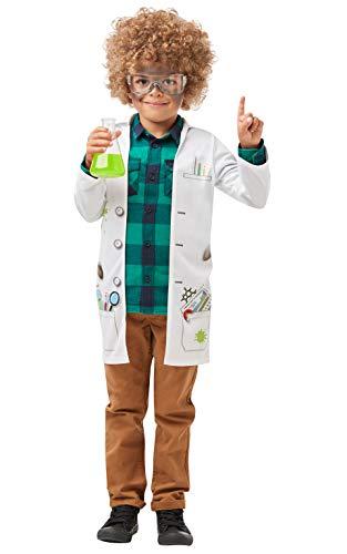 Rubies 640785L S - Chaqueta oficial de científico loco, uniforme, talla grande para niños de 7 a 8 años, unisex, multicolor