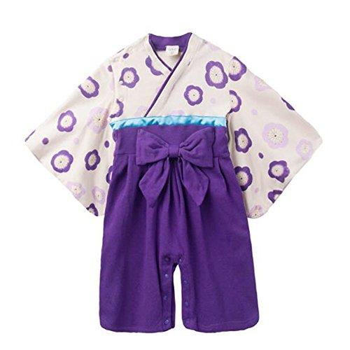 Zhuhaixmy Baby Mädchen Mode Stramplers Jumpsuits Hakama Style Kimono Suit Top Hosen Sets Säugling Kleinkind Lange Ärmel Winter Herbst Overalls Outfits 9-18 Monate