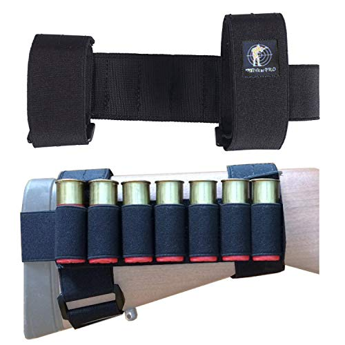 Tactical Pro Sports 7 Round Tactical Shotgun Stock Shell Holder Ammo Carrier Hunting Pouch Strip