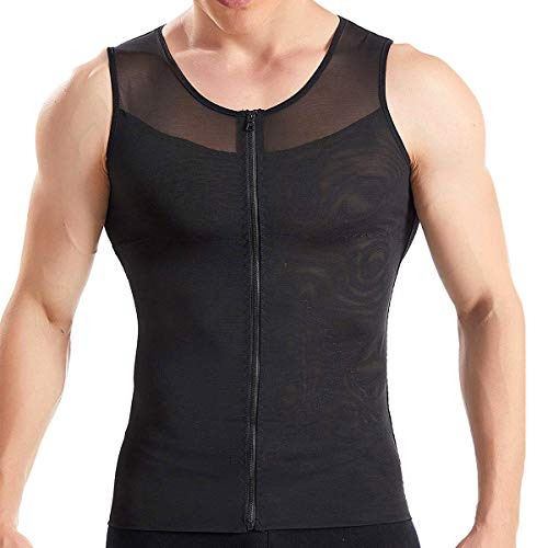 RIBIKA Men s Compression Shirt Tight Body Shaper Tummy Control Undershirts Slimming Shapewear Underwear Tank Top