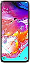 Samsung Galaxy A70 SM-A705FN/DS 128GB, Dual-Sim, 6GB RAM, 6.7-Inch, GSM Unlocked International Model, No Warranty (Coral)