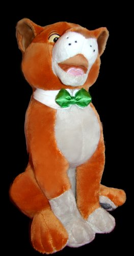 """Disney Store The Aristocats Plush 18"""" Cat Thomas O""""Malley Soft Toy Friend of Duchess and friend of Marie Toulouse and Berlioz (VERY RARE ITEM)"""