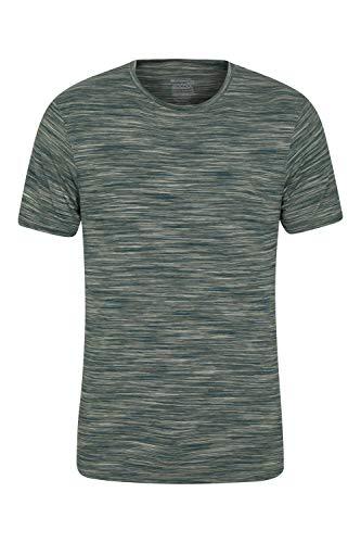 Mountain Warehouse T-Shirt IsoCool Cosmo pour Homme - Évacue la Transpiration, léger, Chaud, Confortable, Anti-UV - Idéal pour Le Sport et Les Sorties en Plein air. Kaki Clair M