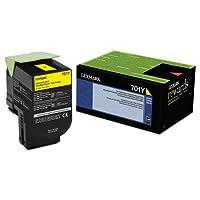 Lexmark 70C10Y0 Toner (LEX-701Y) 1000 Page-Yield,Yellow by Lexmark