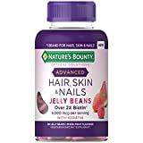 Nature's Bounty Optimal Solutions Advanced Hair, Skin & Nails Jelly Beans with Biotin, Mixed Fruit Flavor, 180 Count