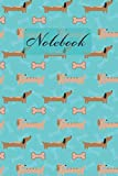 Notebook: Red And Cream Miniature Dachshund  - Dogs Diary / Notes / Track / Log / Journal , Book Gifts For Dad Mom Boys Girls Friends Kids Teens 6x9' 120 Pages (Cute Dachshund Notebook)
