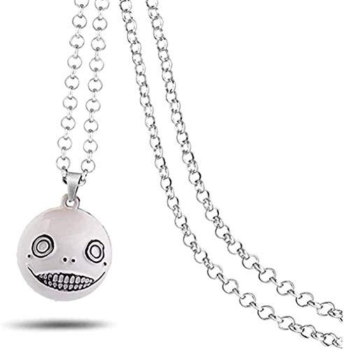 Collar Collar Bola de Metal Robot Emil Tipo B Colgante Cadena de eslabones Collares Charm Gifts Joyería Colgante Collar para Mujeres Hombres