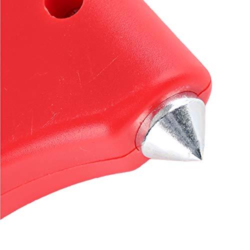 Martillo de seguridad para automóvil Rompeventanas con cuerda de acero y alarma separada para automóviles privados, autobuses, exteriores, hogar, etc.Herramienta de emergencia para