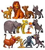 Feelon The Lion King Action Figures, The Lion King Toys ,The Lion King Collectible Figures Set of 12 Pcs , Mufasa & Simba The Lion King Cake Topper Decorations Toy Set , Cake Decoration 1.39~2.07 inch
