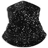 Calentador de Cuello Flying Rain Snow sobre Fondo Negro Bufanda, una máscara Facial Completa o Sombrero, Polaina de Cuello, Gorra de Cuello Máscara de esquí