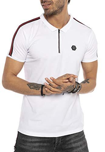 Redbridge Hombres Manga Corta Camisa Polo T-Shirt de Rayas Básico Shirts