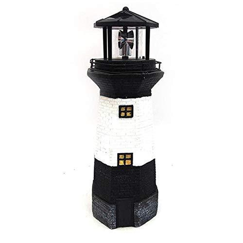 Gartendekoration Solarleuchte Kreative Retro Leuchtturm Form Drehbare LED Lampe Outdoor Hof Garten Strahler