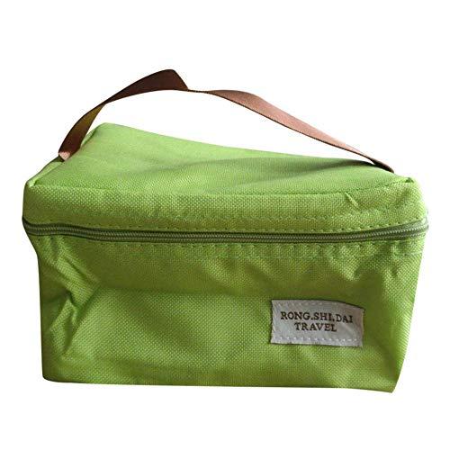 TTZY Bewegliche wasserdichte Kühltaschen Lebensmittel frisch zu halten Eisbeutel Wärmeisolierung Picknick Mittagessen-K-Green_A SHIYUE (Color : Green)