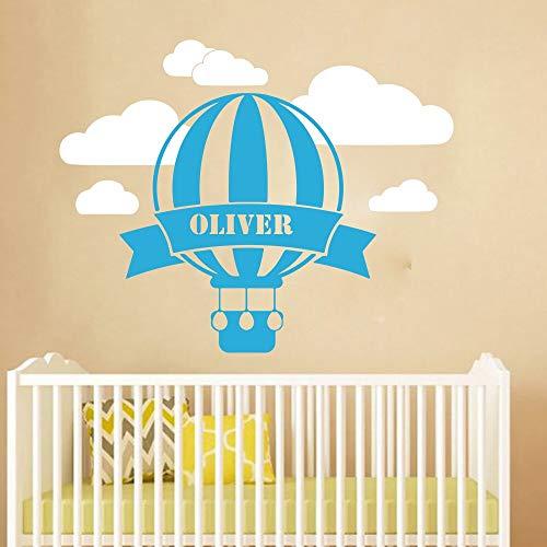 Tianpengyuanshuai hoofdwanddecoratie individuele naam ballon wolken hemel wandkaart kinderkamer slaapkamer decoratie sticker