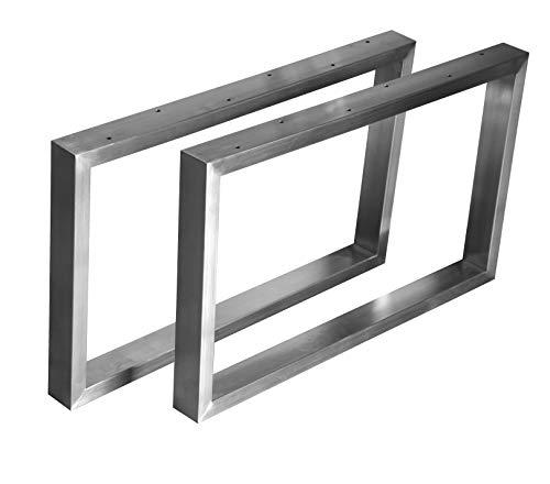 CHYRKA Kufengestell Tischgestell Edelstahl 201 Rahmentisch Tischkufe Tischuntergestell (300mm x300 mm - 1 Paar)