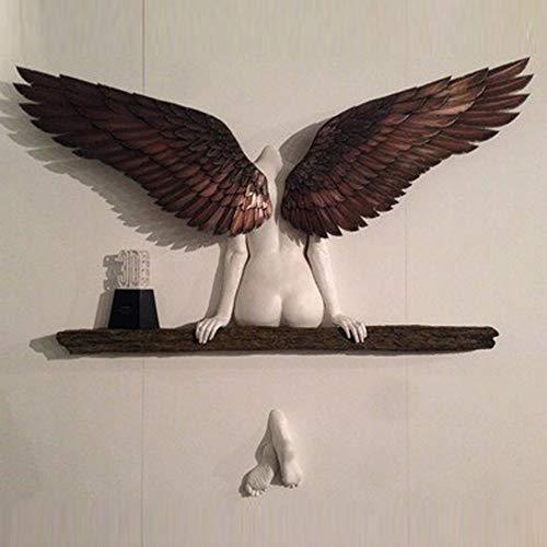 3D Statue,Ikarus Hatte Eine Schwester Angel Art Sculpture Wanddekoration,Engel Kunst Skulptur Für Wohnzimmer Schlafzimmer Dekoration