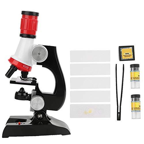 Kinder 100x 400x 1200x hochauflösendes Mikroskop, Kinder Frühpädagogisches Lernkit Biologie Beobachtetes Set mit LED-Licht(Mikroskop)