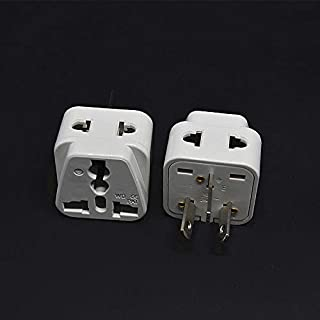 2PCS Australian/China Type I Travel Adapter 2 Way Outlet Power Plug Change US/EU/UK/Swiss/Italy/Japan to AU 3 Pin