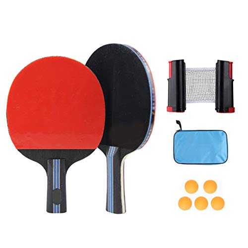 Read About BlueBean Table Tennis Set Ping Pong Set Portable Retractable Table Tennis Net Table Tenni...