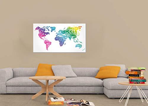 Homemania Bild, Polyester, Holz, mehrfarbig, 100 x 3 x 70 cm, 2 Einheiten