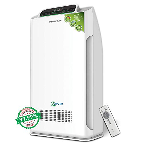 Havells Freshia AP-40 80-Watt Air Purifier with Remote (White/Black)