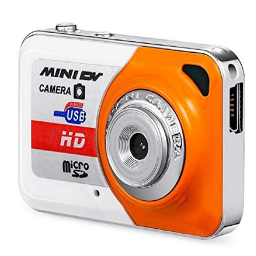 Njuyd - Cámara digital portátil X6 con tarjeta TF de 32 GB con micrófono, cámara de vídeo digital PC DV Videocámara Grabación