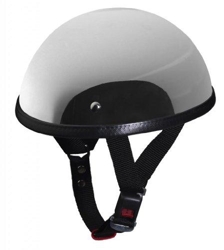 Nerve HLD Oldtimer NH201 Motorrad Mofa Chopper Helm Halbschale, Chrom/Silber Verspiegelt, Größe L
